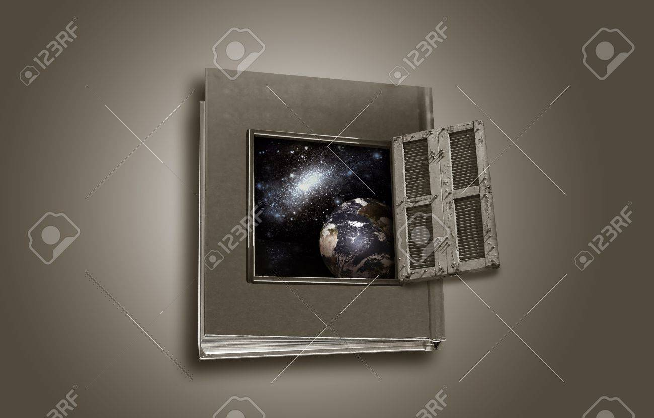 book is a window to the world Stock Photo - 14605978