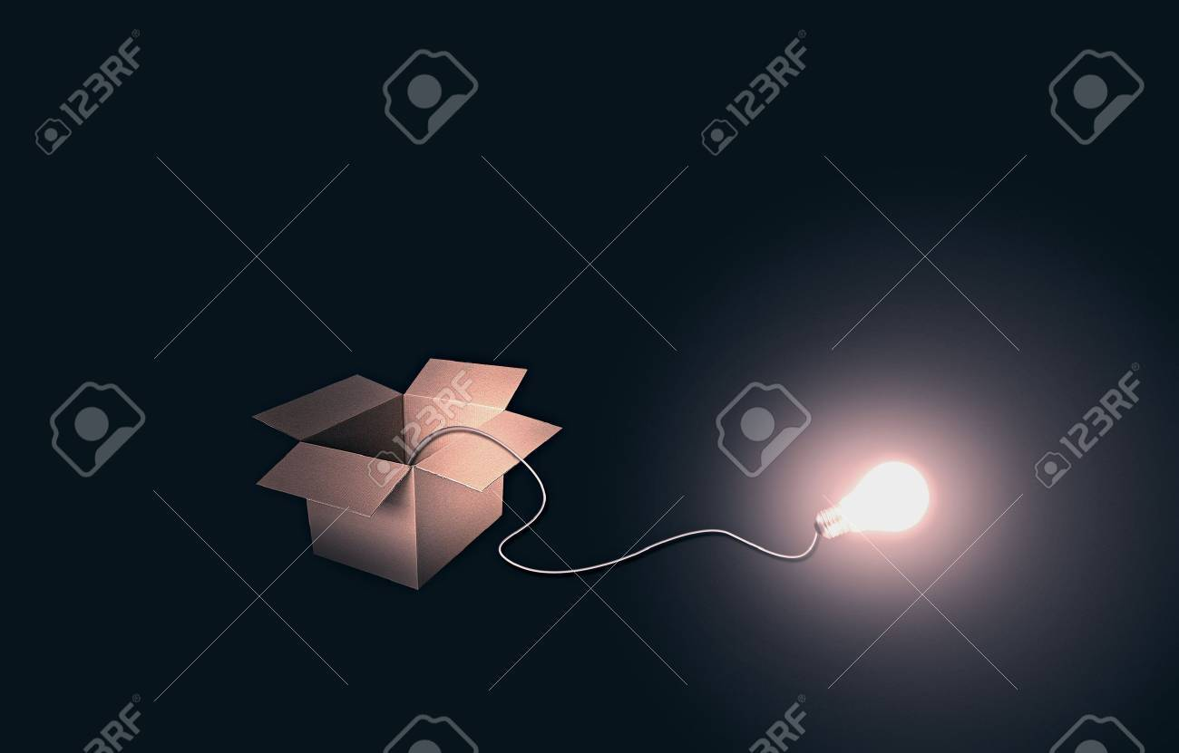 think outside the box Stock Photo - 14605968