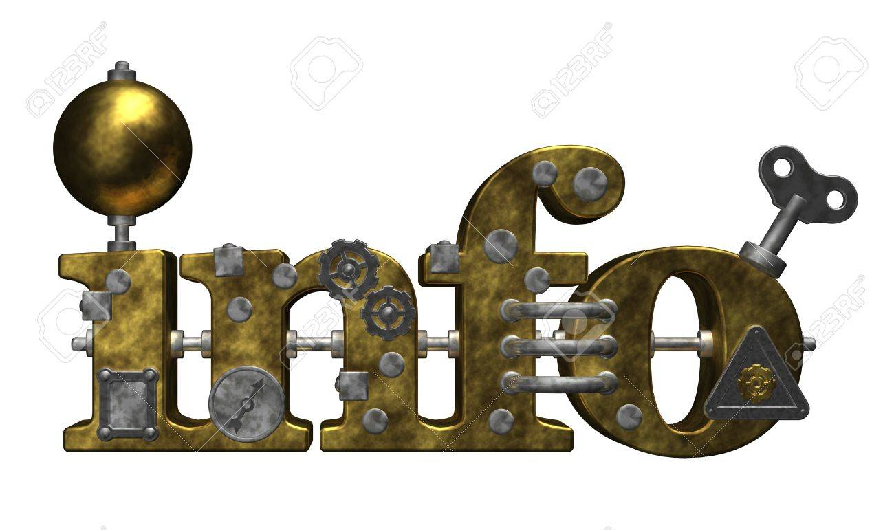 metal info tag on white background- 3d illustration Stock Illustration - 10909284
