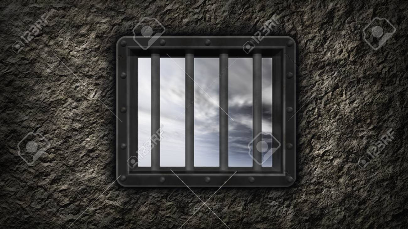 riveted steel prison window - 3d illustration Stock Photo - 11468395