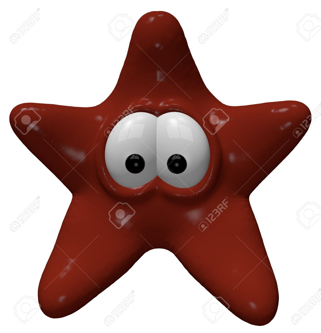 funny starfish - 3d cartoon illustration Stock Photo - 11965170