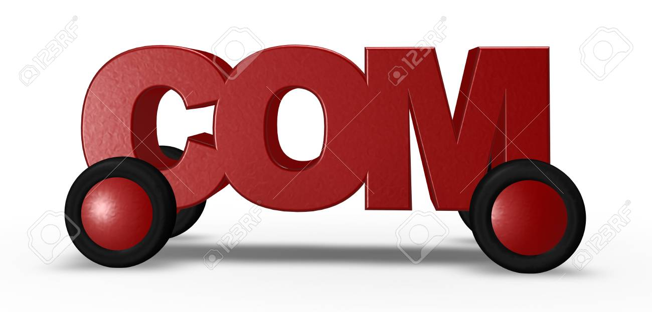 com tag on wheels - 3d illustration Stock Illustration - 16270672