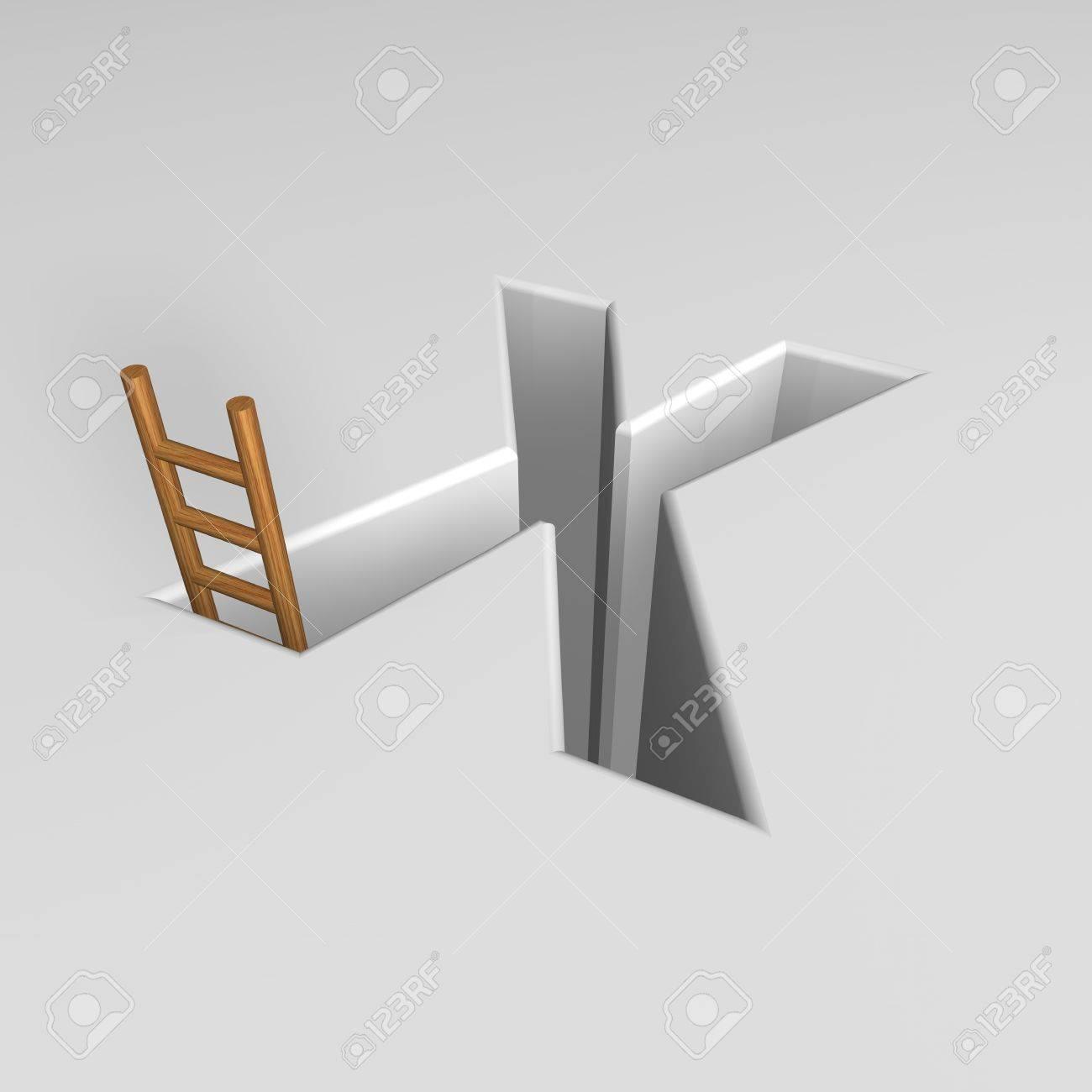 letra mayúscula agujero con forma x escalera 3d ilustración fotos