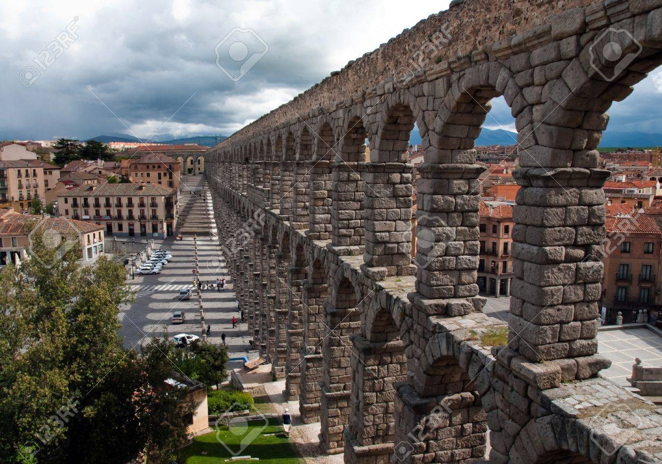 the longest roman aqueduct preserved in western europe stock