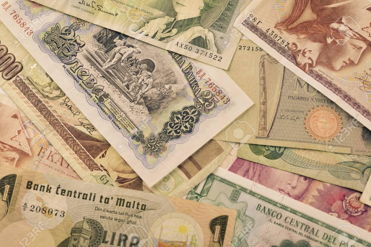 旧紙幣国際通貨非アクティブな循...