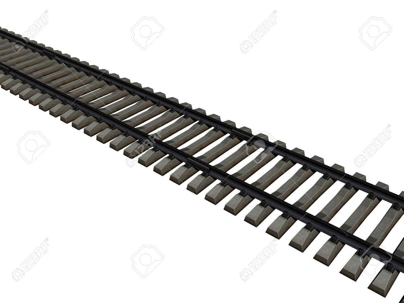 Rail track with sills as a route - 156860005