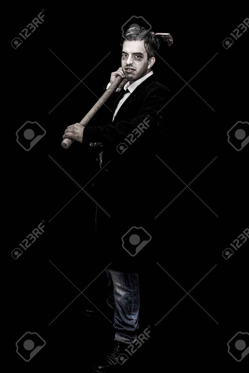 undertaker with shovel, halloween collection stock photo, picture