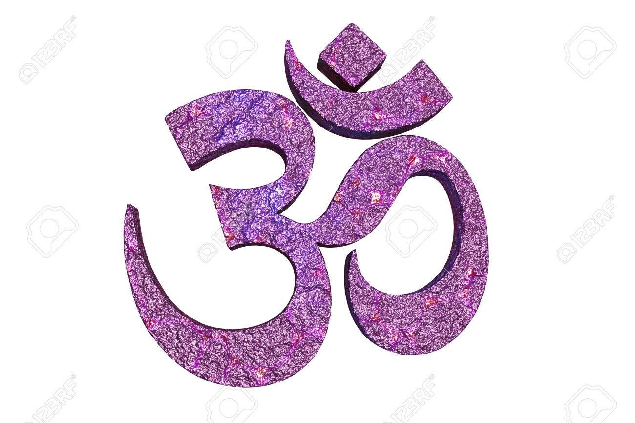 Hindu Word Reading Om Or Aum Symbol 3d Illustration It Is A