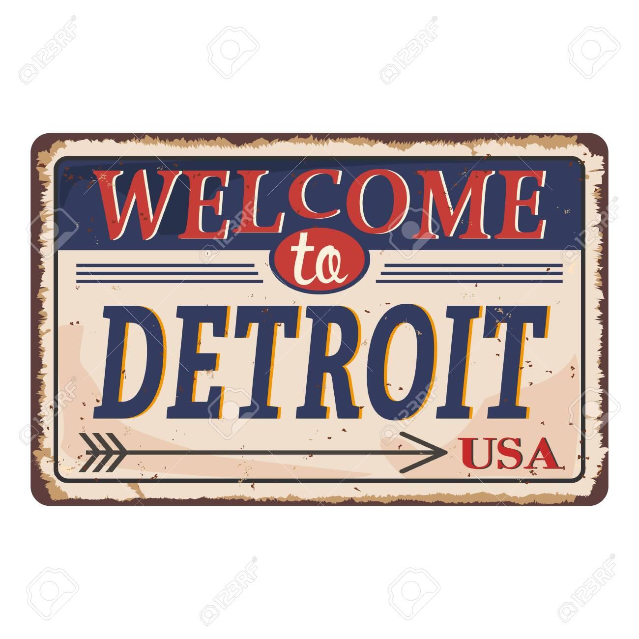 Mi Post Office Personalized Metal Sign Vintage 106180011014 Detroit