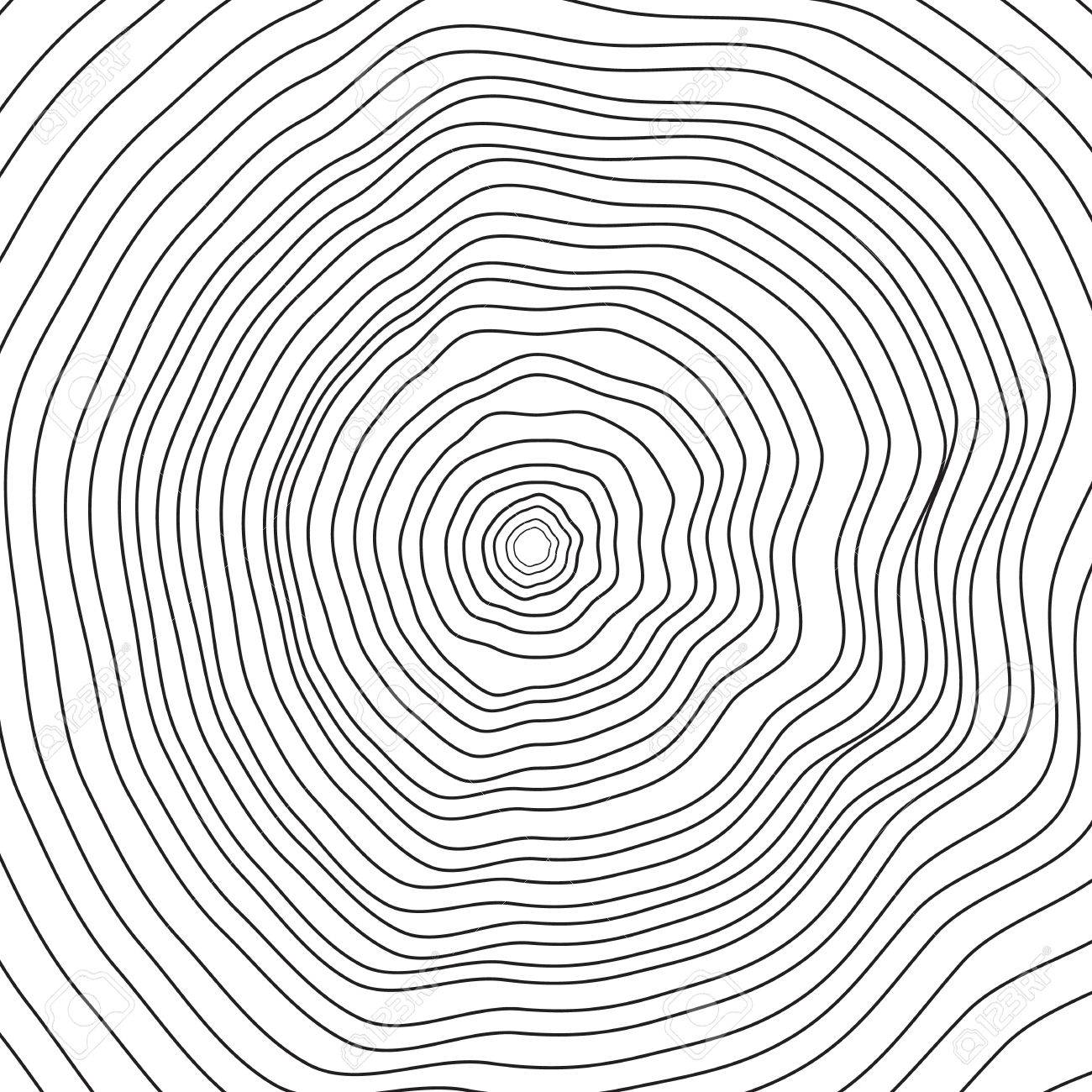 Conceptual Background With Tree Rings Vector Graphics Royalty