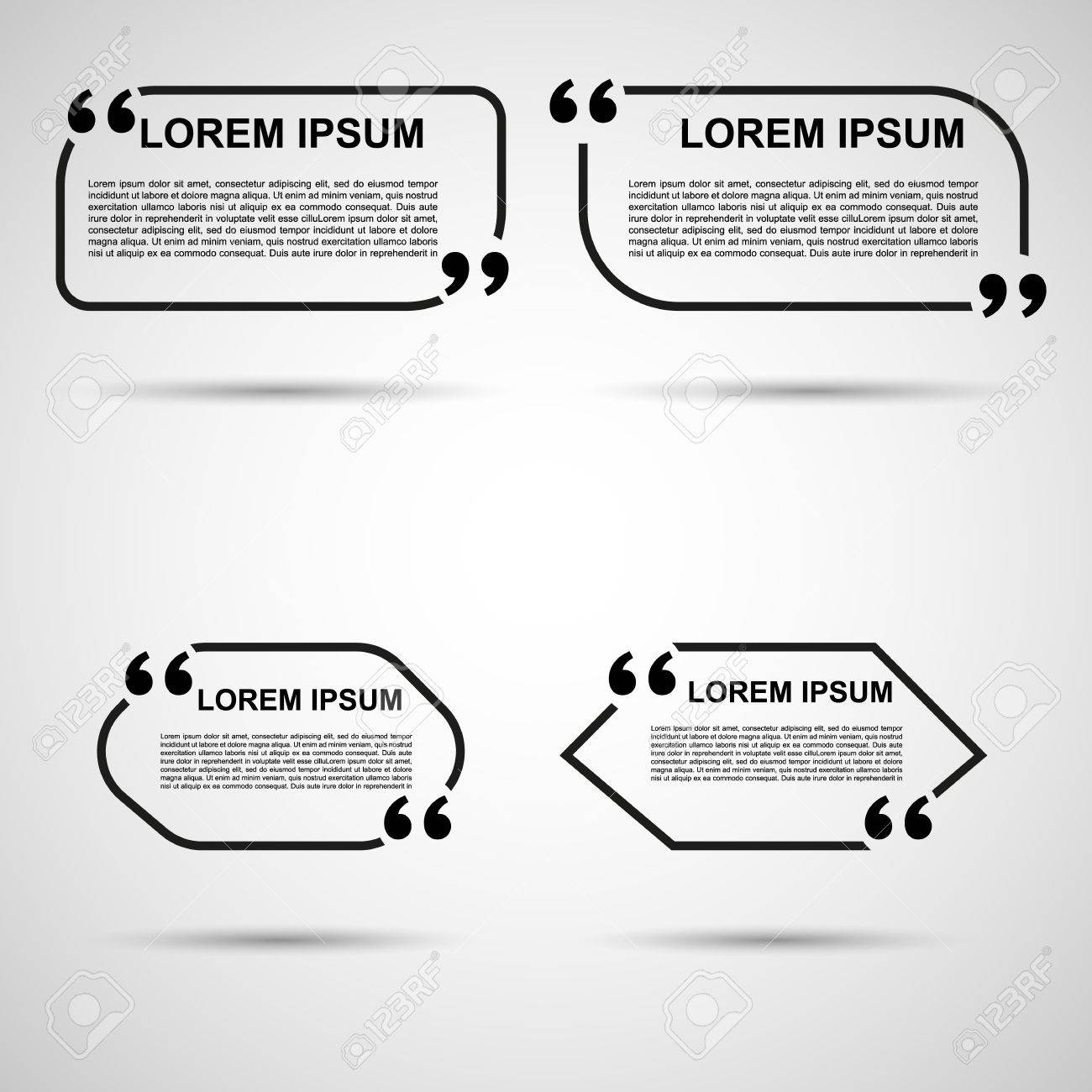 Quote blank template quote bubble empty template circle business quote blank template quote bubble empty template circle business card template paper reheart Image collections