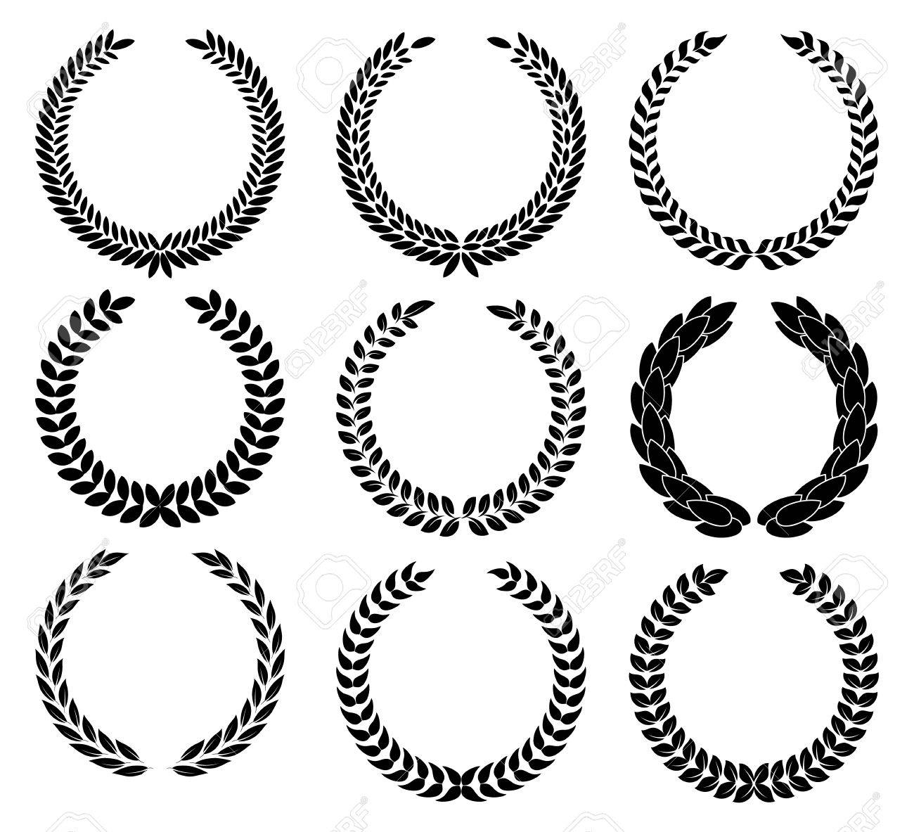 Set laurel wreath symbol of victory and achievement design set laurel wreath symbol of victory and achievement design element for construction of medals buycottarizona Image collections