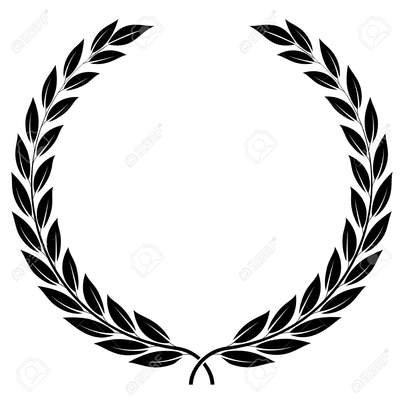 A Laurel Wreath Symbol Of Victory And Achievement Design Element