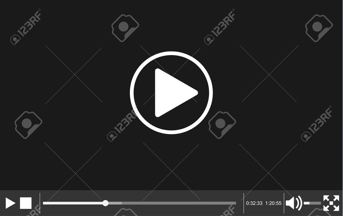 Video Player Template For Web, Movie Screen Vector Illustration ...