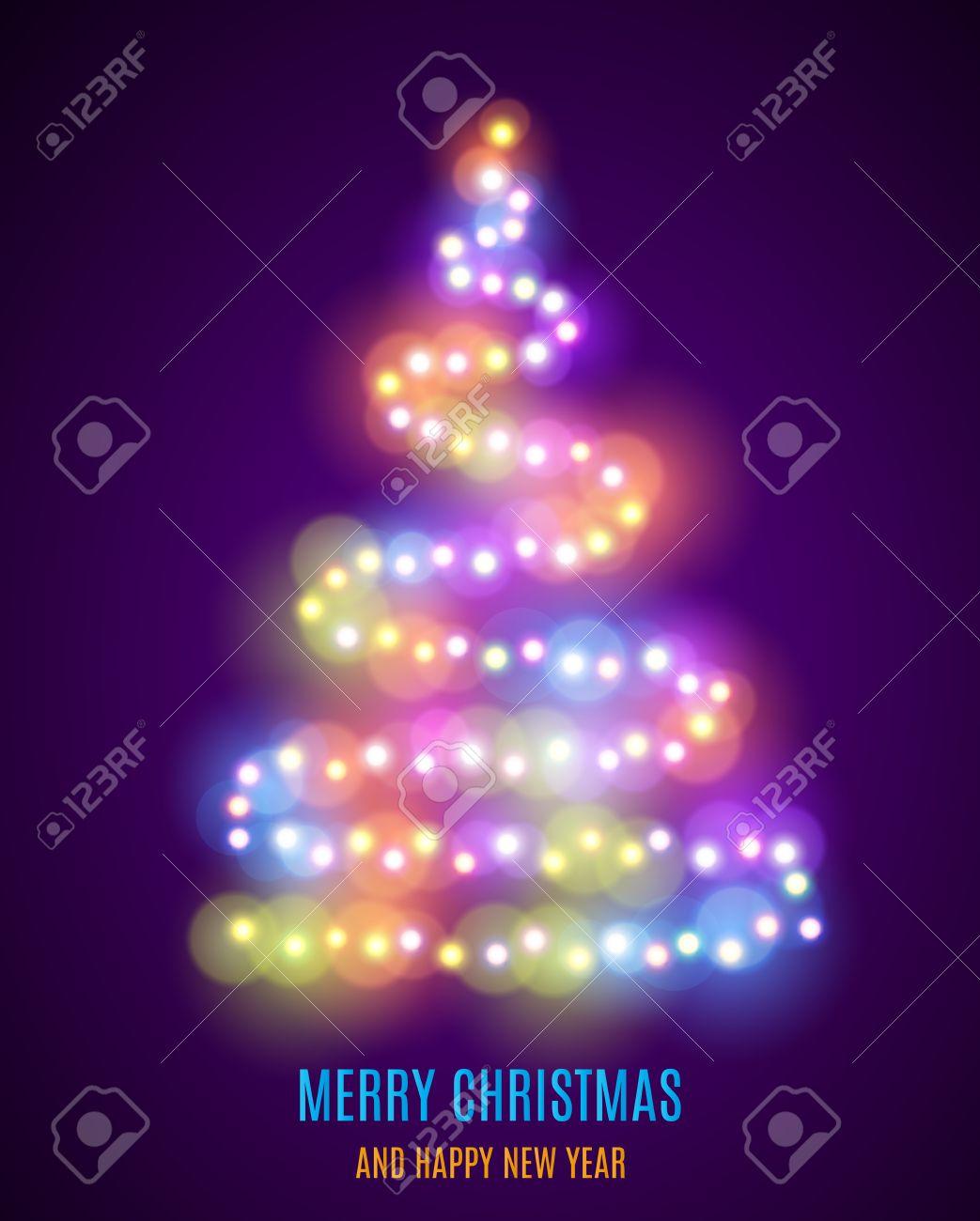 c249ad790c3 Rbol de navidad brillante. Árbol de Navidad de la guirnalda. Luces que  brillan intensamente colorido - Luz de Navidad de fondo. Luces de Navidad de  fondo. ...