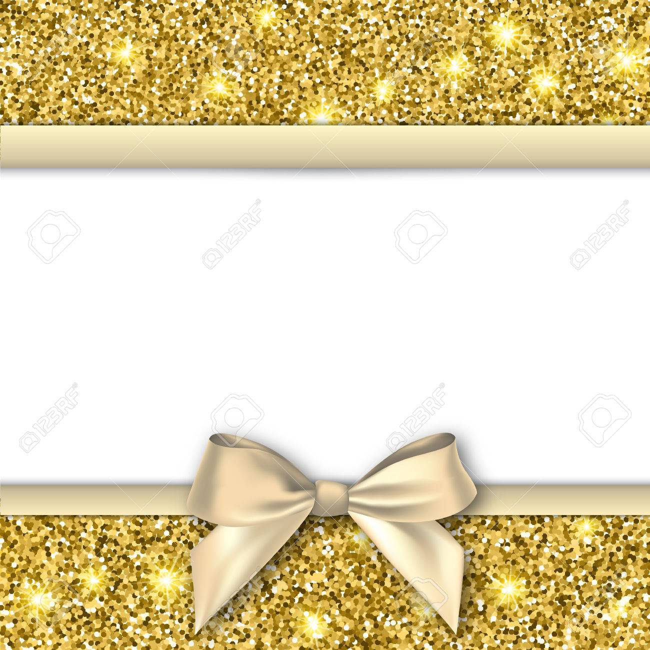 Invitation decorative card template with bow and gold shiny invitation decorative card template with bow and gold shiny glitter gold background for flyer stopboris Images
