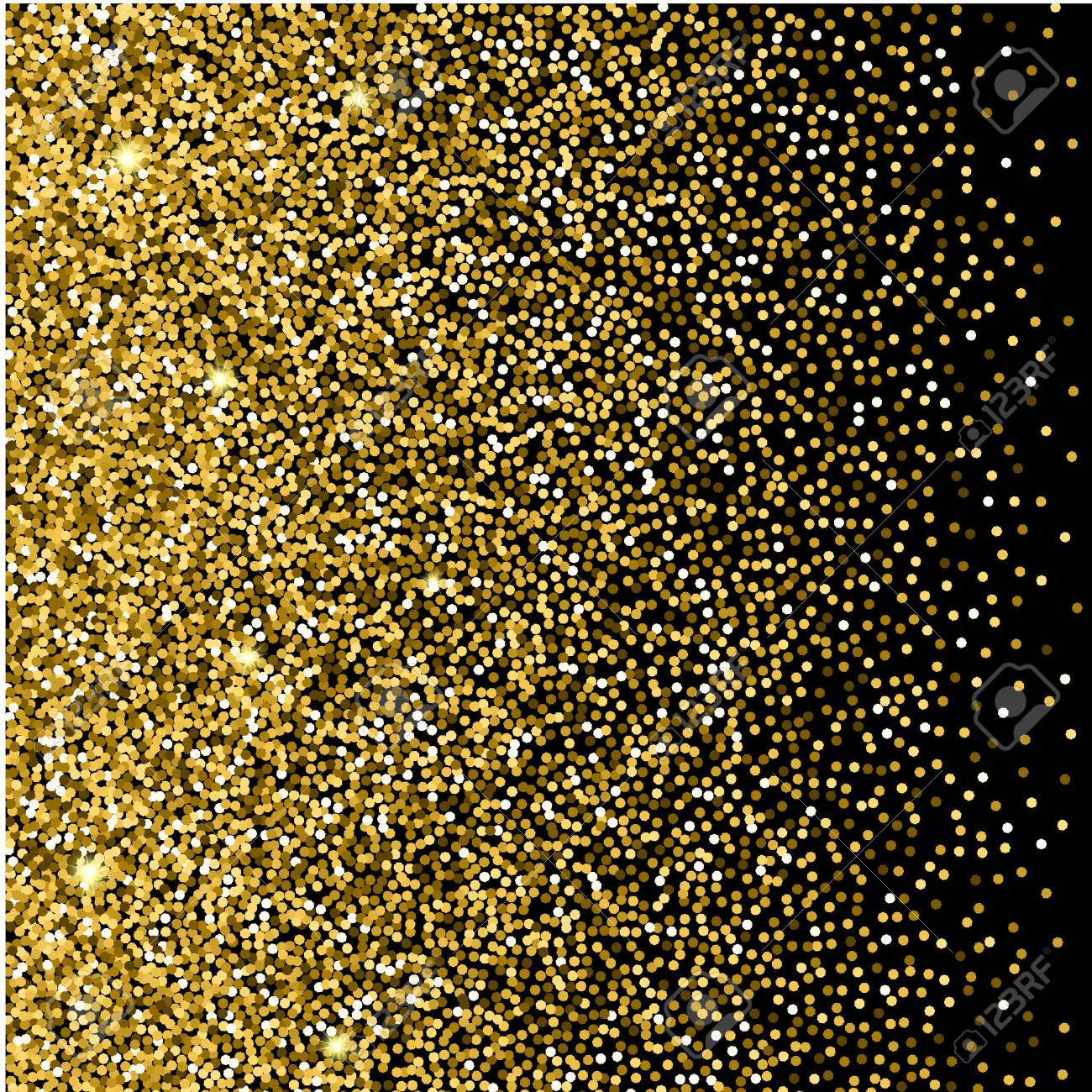 Gold glitter background gold sparkles on black background creative gold glitter background gold sparkles on black background creative invitation for party holiday stopboris Images