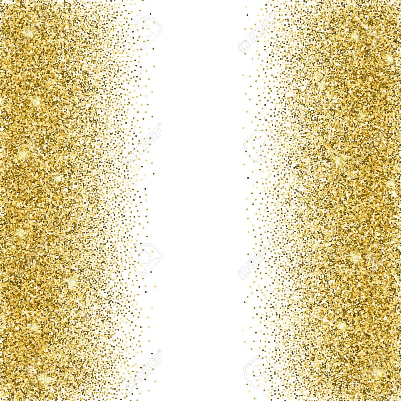 Gold Glitter Hintergrund Gold Funkelt Auf Weissem Hintergrund