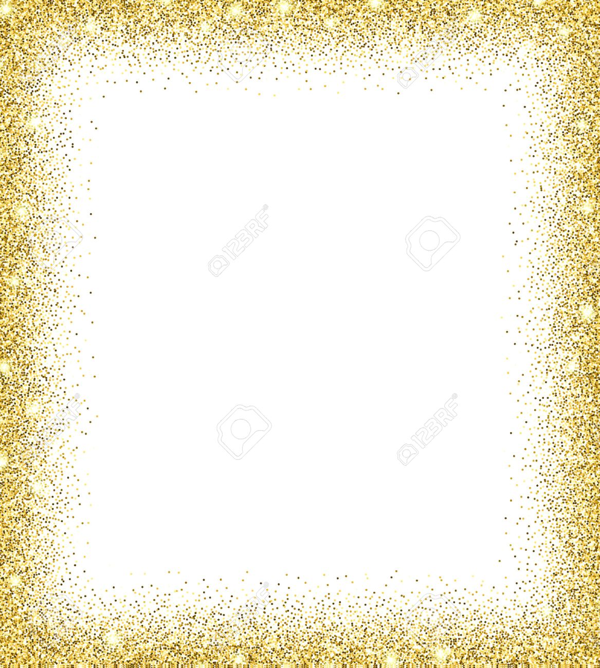 Gold glitter background. Gold sparkles on white background. Creative invitation for party, holiday, wedding, birthday. Trendy modern vector illustration - 50717941