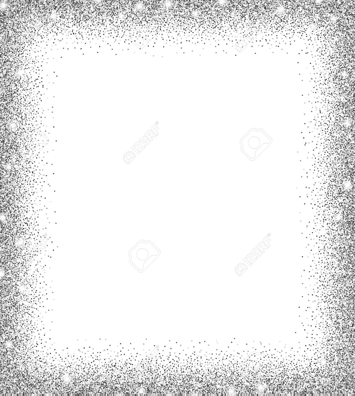 Silver glitter background silver sparkles on white background silver glitter background silver sparkles on white background creative invitation for party holiday stopboris Images