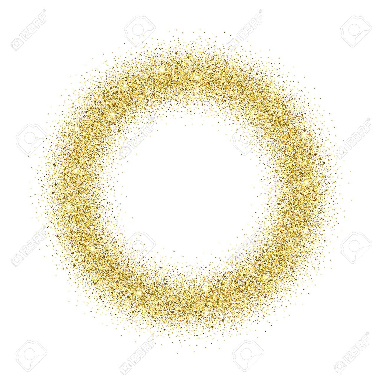 Gold-Glitter Hintergrund. Gold-Glanz Runden Rahmen. Vorlage Für ...