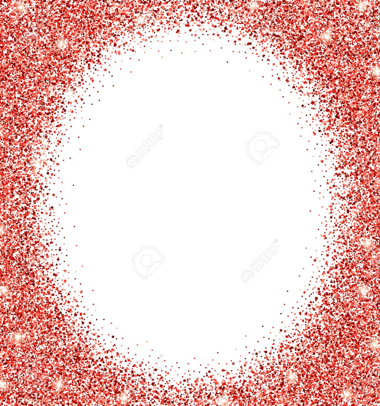 Red Glitter Background. Red Sparkle Runden Rahmen. Vorlage Für ...