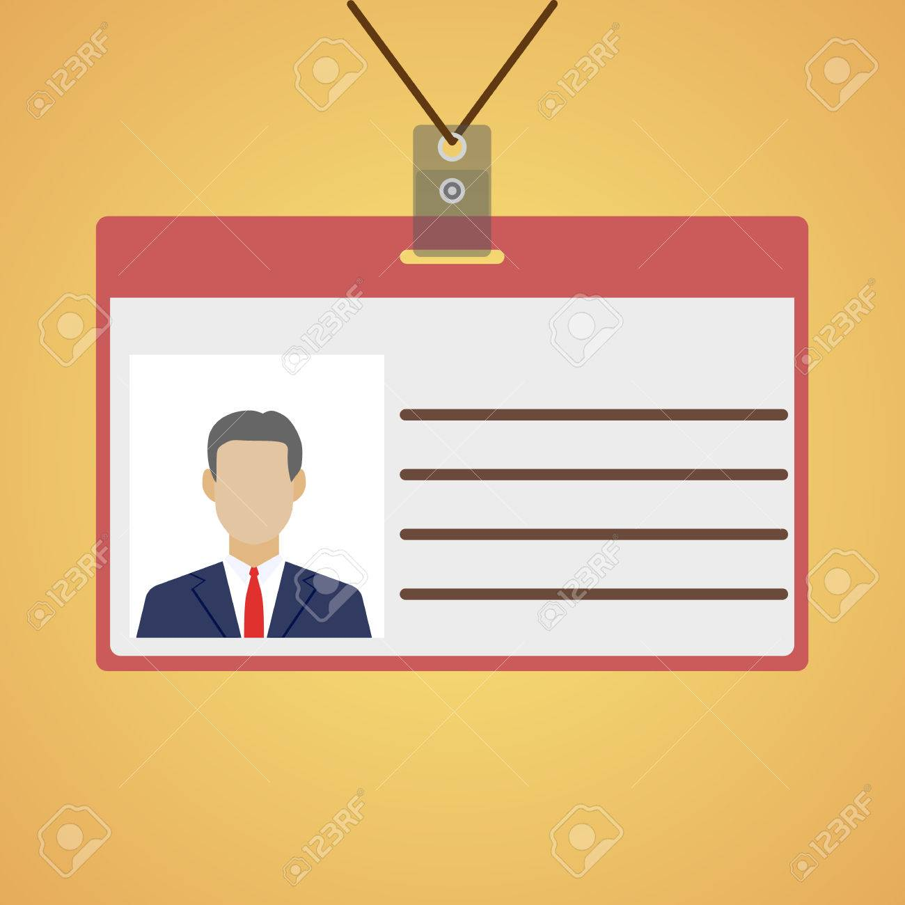 flat design name tag badge template vector illustration royalty