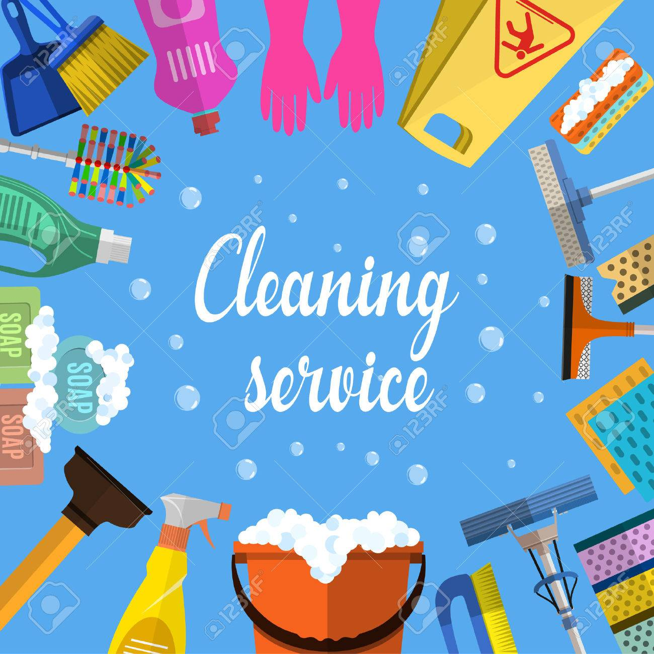 cleaning service flat illustration poster template for house cleaning service flat illustration poster template for house cleaning services various cleaning tools