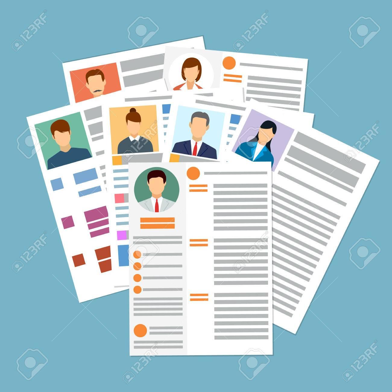 71adc2acdd3 Cv concepto de curriculum vitae con foto, documentos. contratación de empleo.  La búsqueda