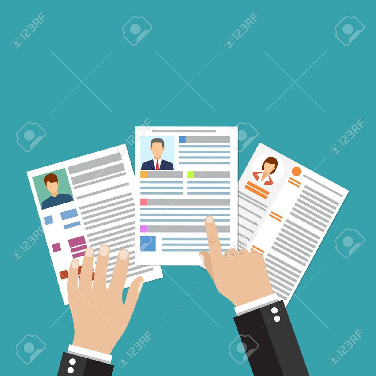 Cv Concepto De Curriculum Vitae Con Foto, Documentos. Contratación ...