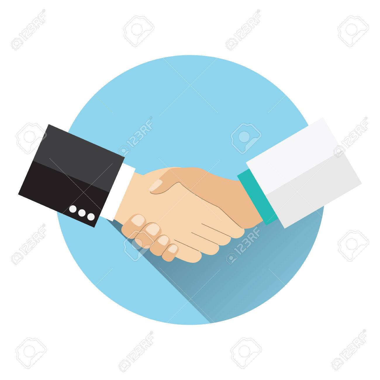 Handshake doctor and patient, Concept healthcare. Medical background. Doctor and patient shaking hands isolated on background. vector illustration in flat design - 57949867