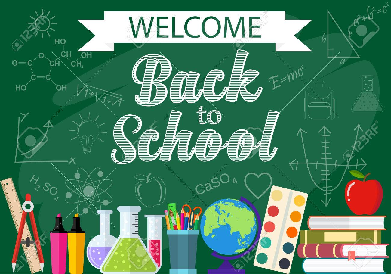 Horizontal Banner Background Poster From The School And Education Royalty Free Cliparts Vectors And Stock Illustration Image 59810334