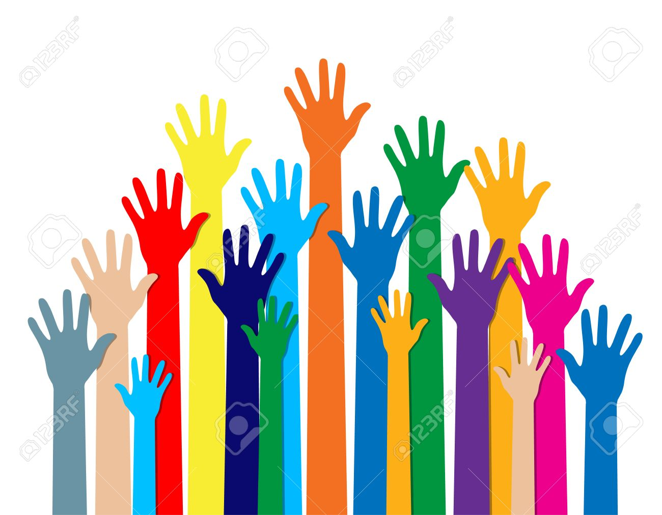 Cultural  >> Group Of Hands Of Different Colors Cultural And Ethnic Diversity