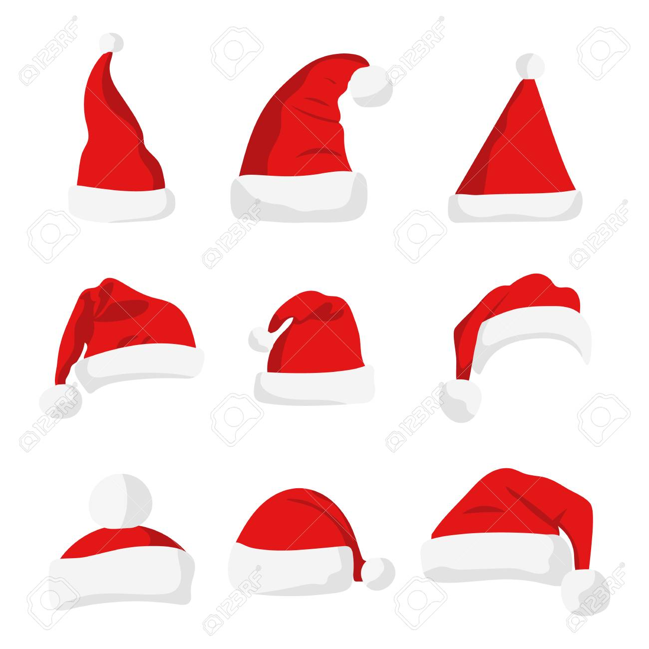 santa claus red hat isolated on white new year 2017 santa red hat santa