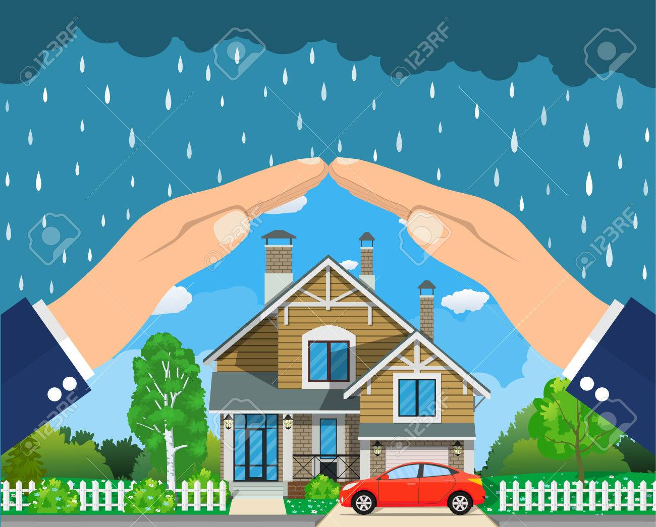 Home insurance concept. - 71766286