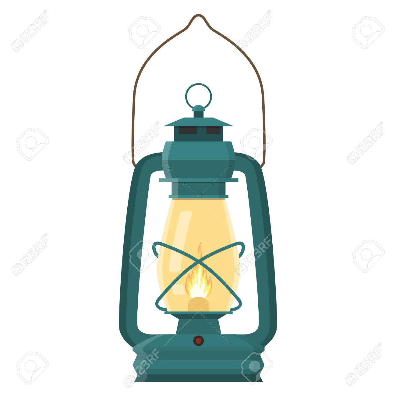 Vintage Camping Lantern Stock Vector