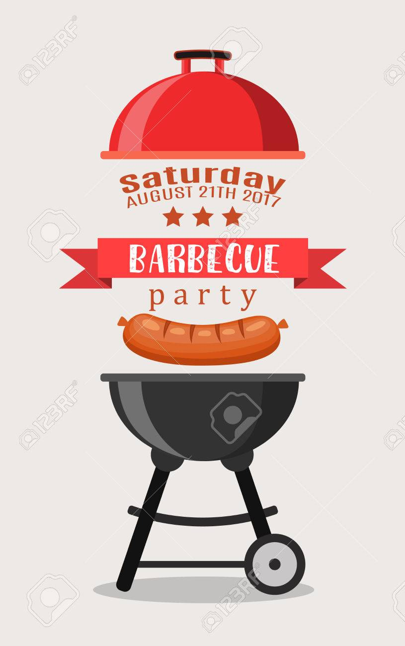 bbq or barbecue party invitation royalty free cliparts vectors and