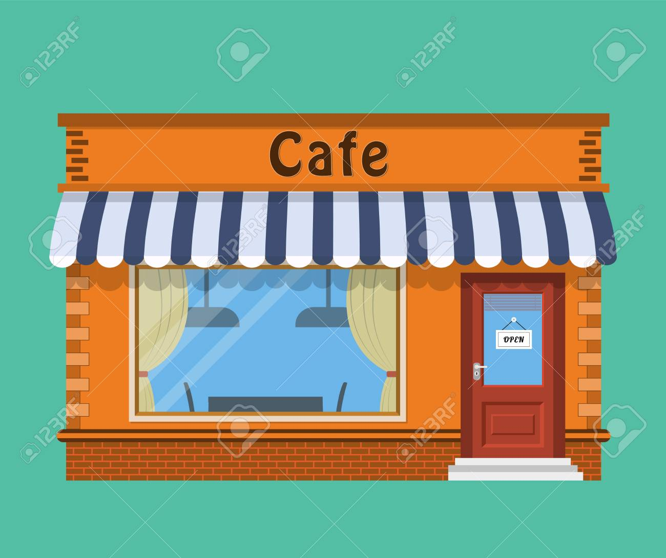 Cafe Shop Exterior Royalty Free Cliparts Vectors And Stock Illustration Image 82898692