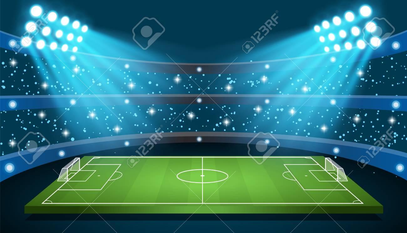 Soccer game Vector Stadium - 101688167
