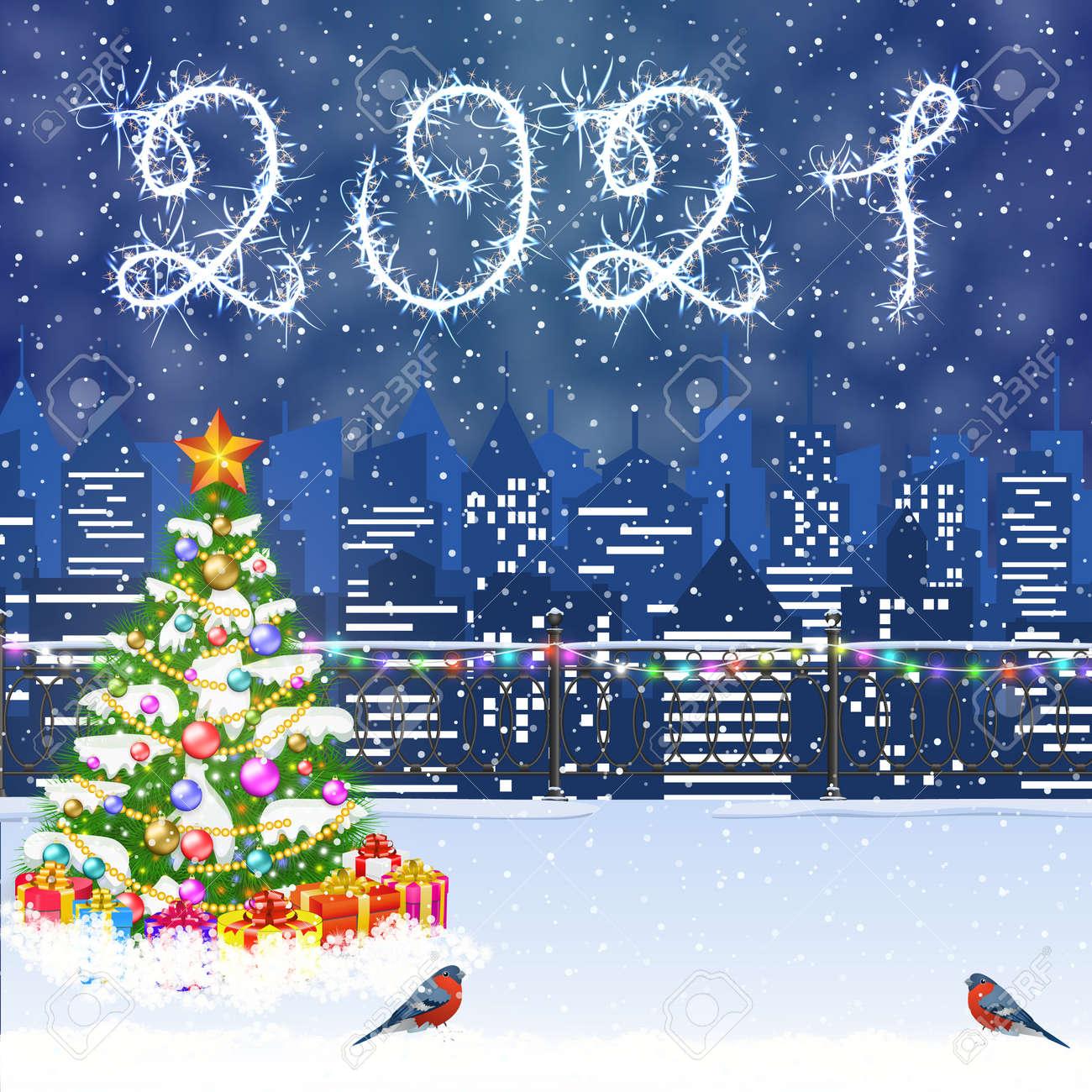 Christmas Winter Cityscape - 157074751