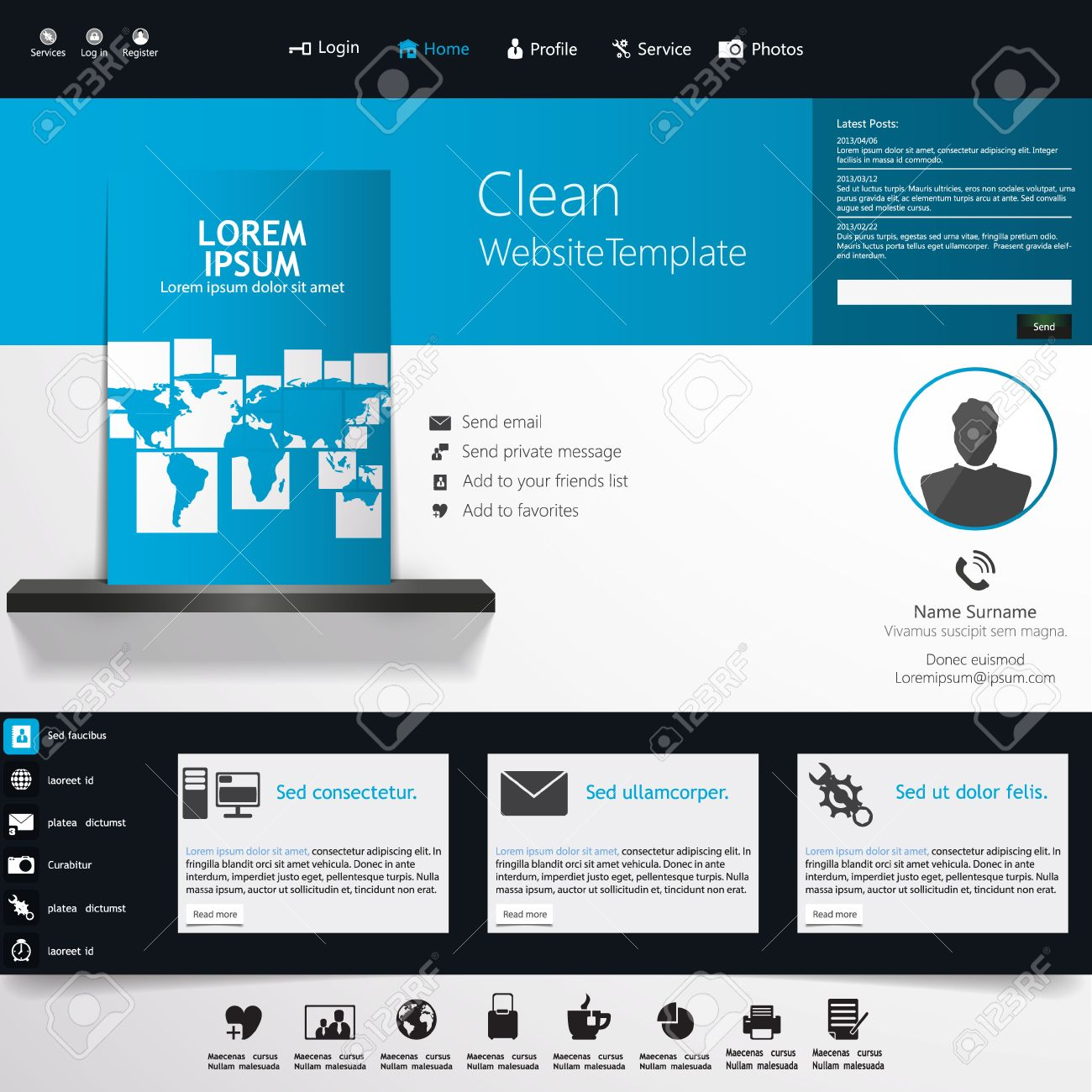 Blue business website template home page design clean and blue business website template home page design clean and simple with a space flashek Images