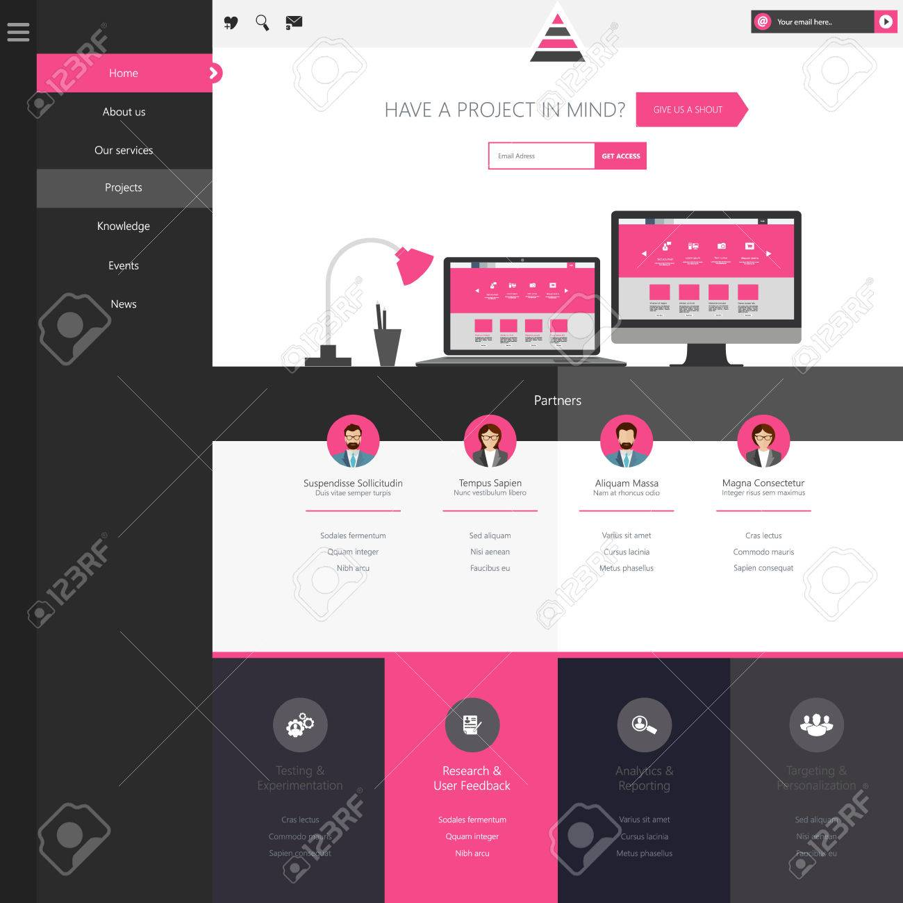 15 free bootstrap landing pages templates.
