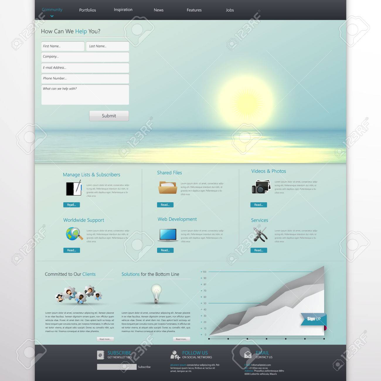 Business website template home page design clean and simple business website template home page design clean and simple with a space for accmission Choice Image