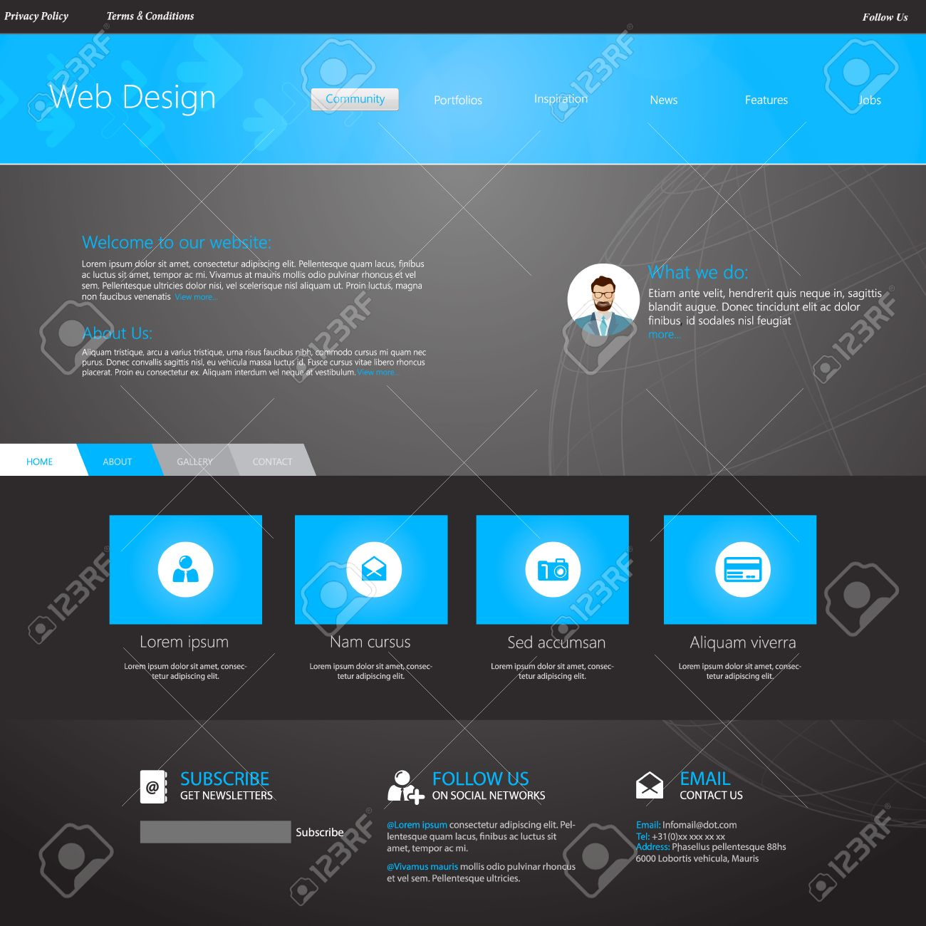 Blue business website template home page design clean and blue business website template home page design clean and simple with a space wajeb Images
