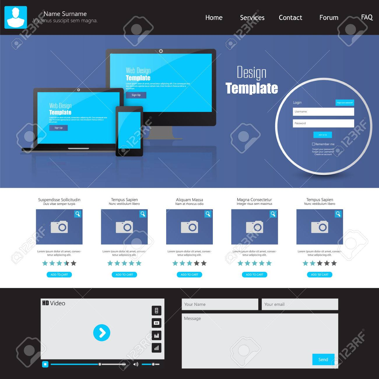 Business website template home page design clean and simple business website template home page design clean and simple vector illustration stock vector flashek Choice Image