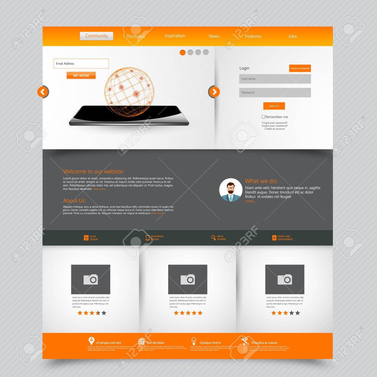 Simple Business Website Template. simple corporate template. one ...