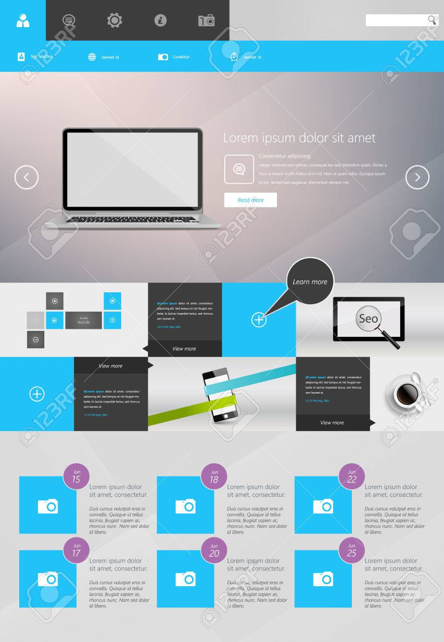 Modern One Page Website Template Responsive Website Can Be Use