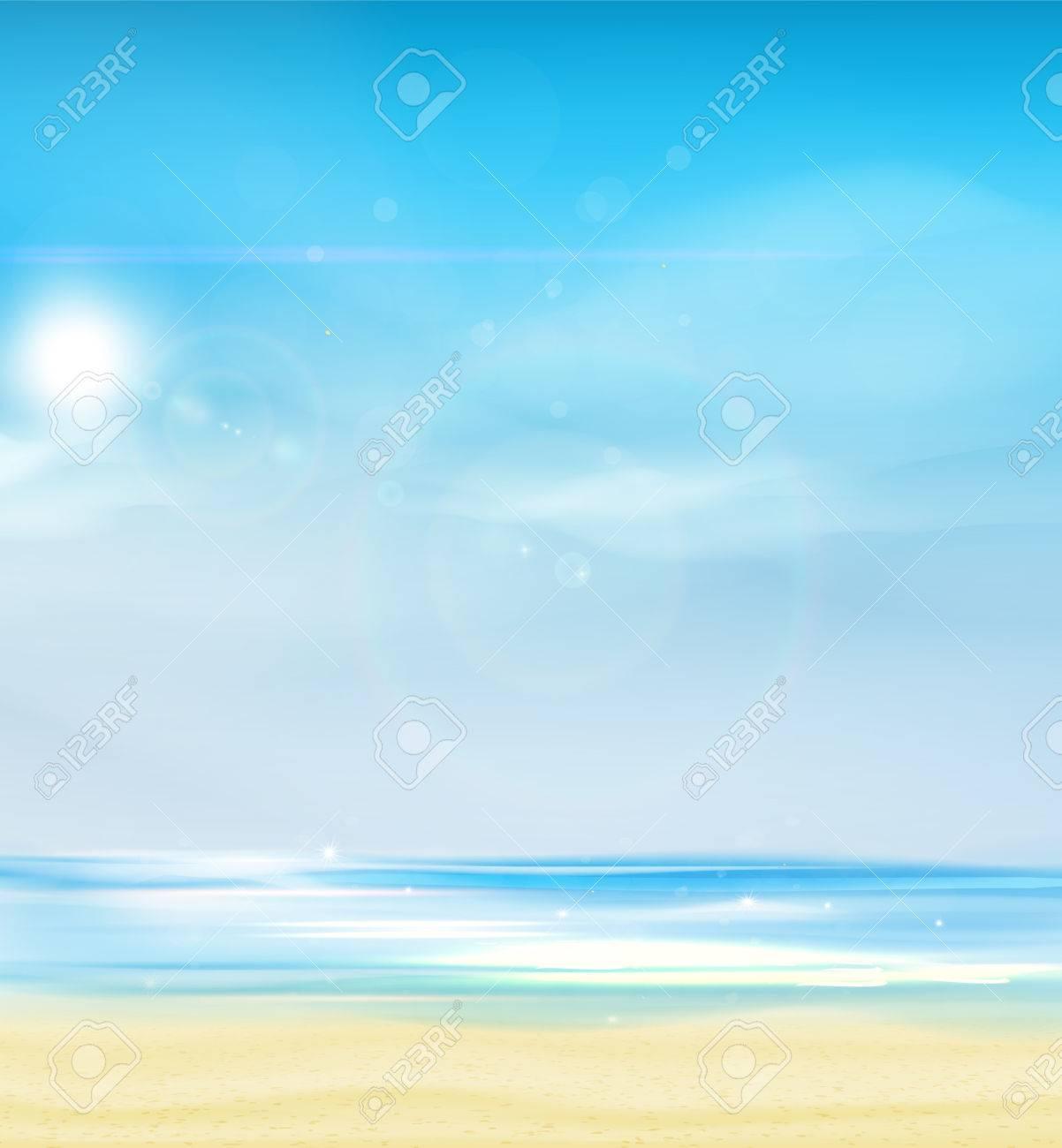 夏背景ベクトル イラスト。 ロイヤリティフリークリップアート、ベクター