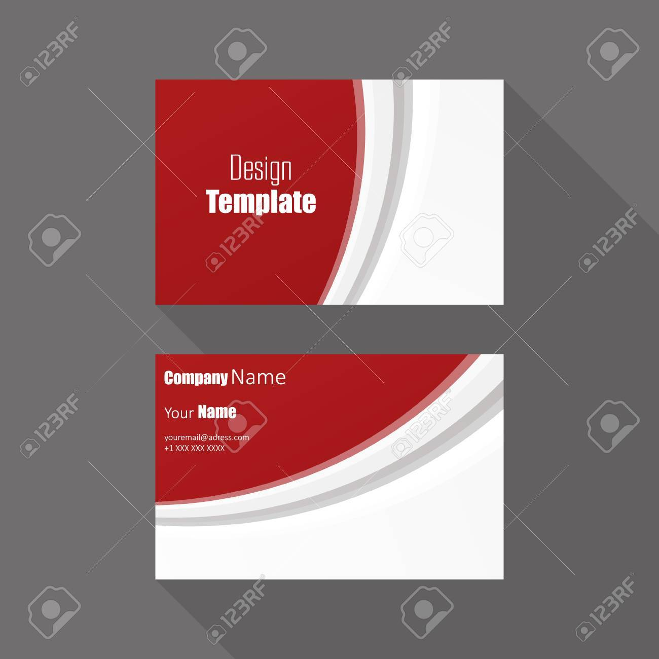 business card with red wave vector background royalty free cliparts