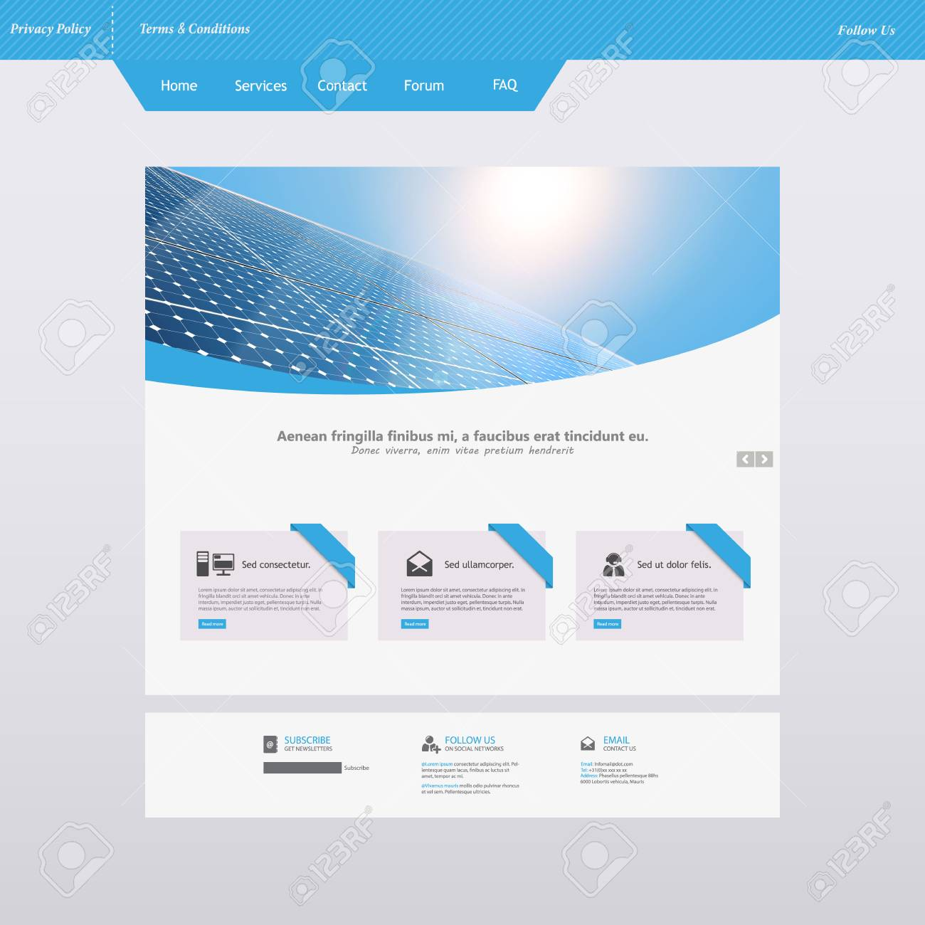 Modern Eco Simple Website Design Template, with Solar Panel